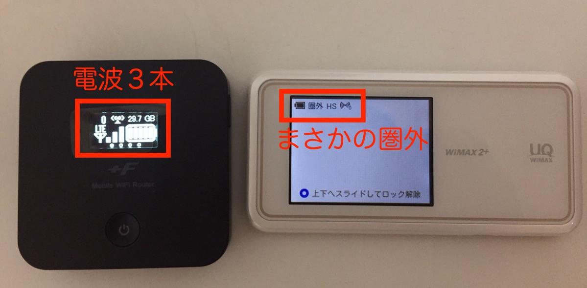 WiMAXとスマモバの繋がりやすさの違い