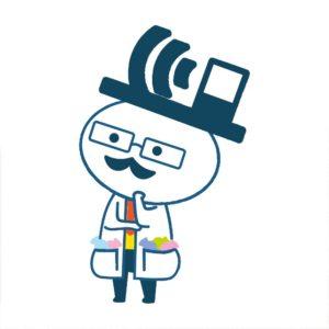 WiFi博士考え中(左向き)