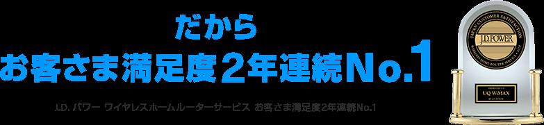 WiMAXお客様満足度No1