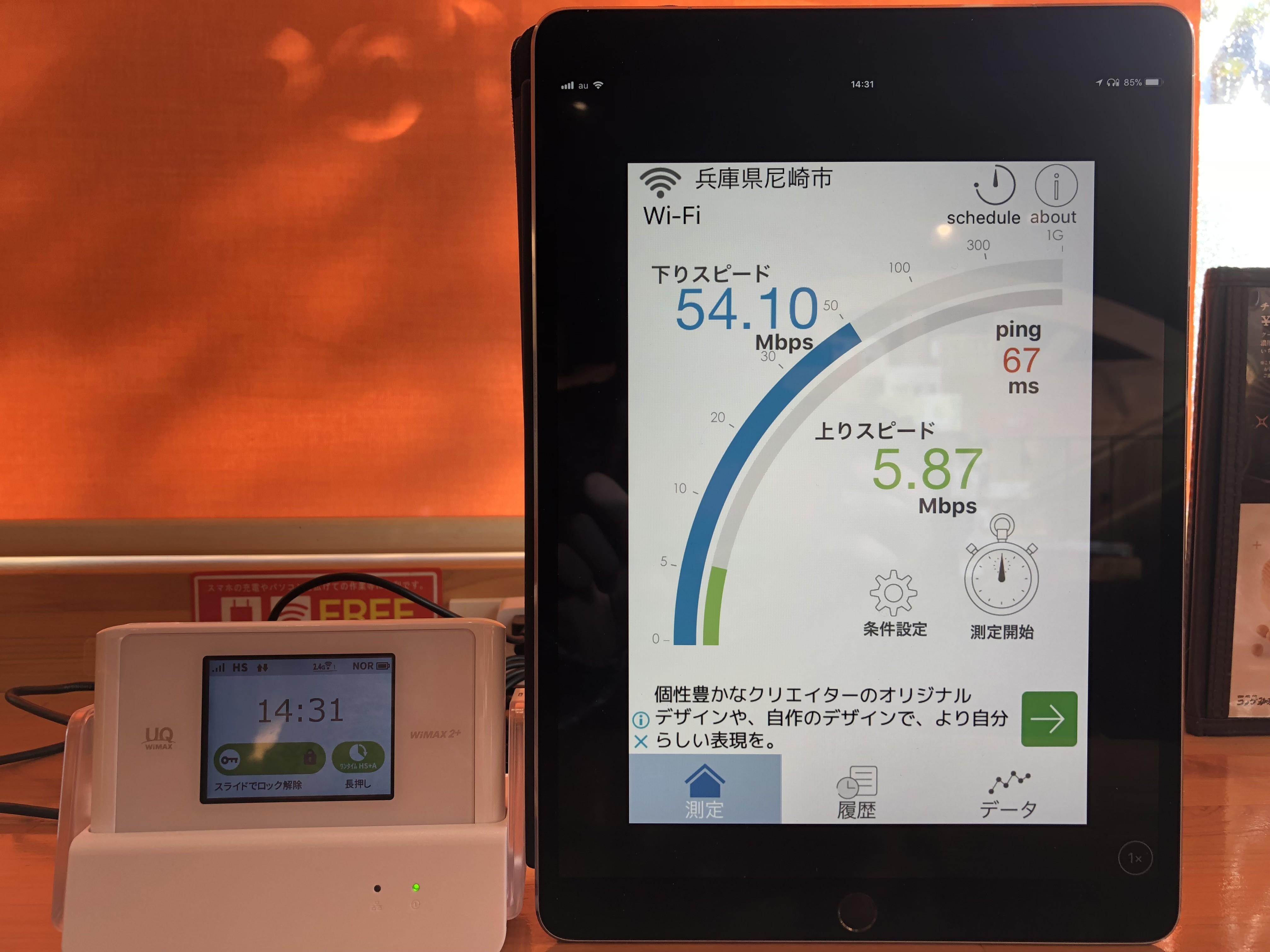 WiMAXの通信速度データ2