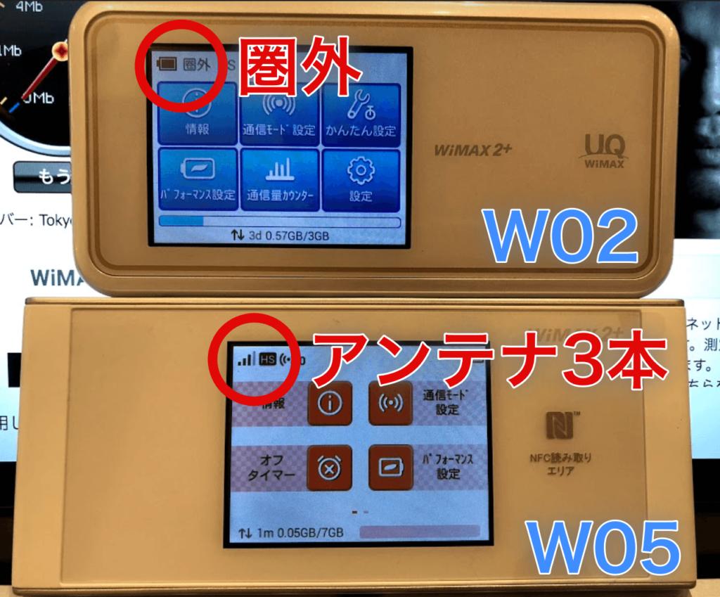 w02w05を梅田で比較