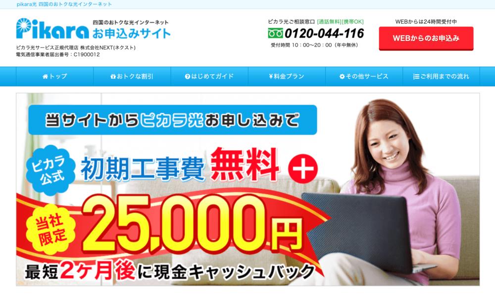 ピカラ光(NEXT)キャンペーンTOP