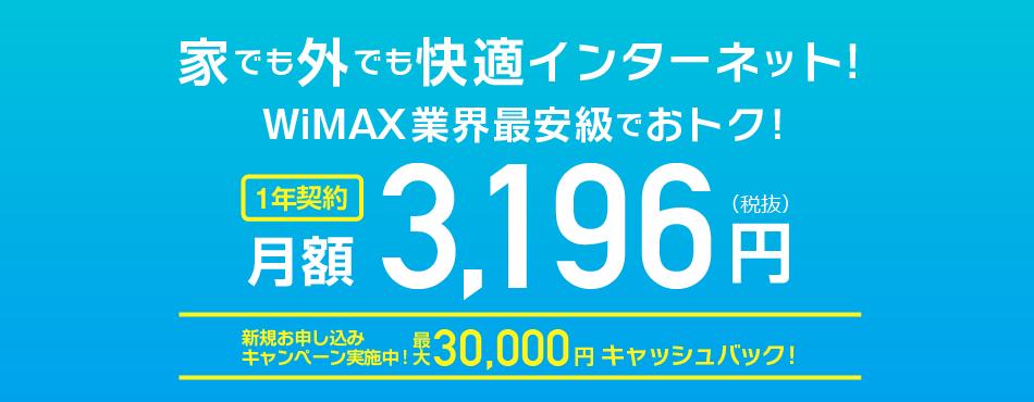 1年契約可能なDriveWiMAX