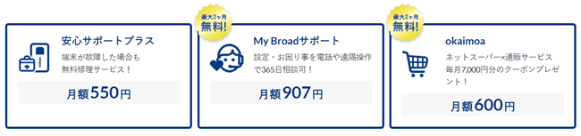 Broad WiMAXのサポートオプション