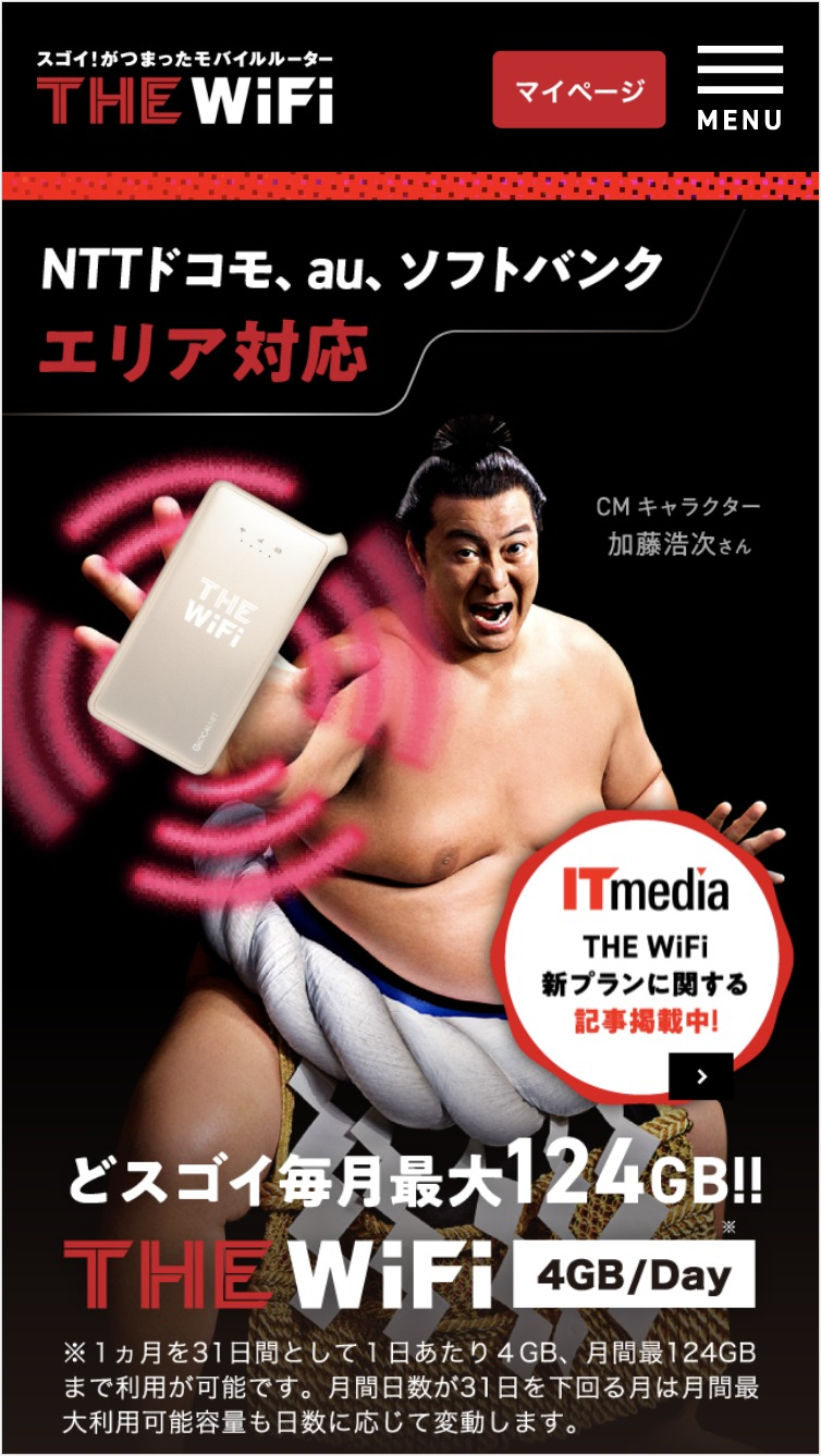 THE WiFiトップイメージ