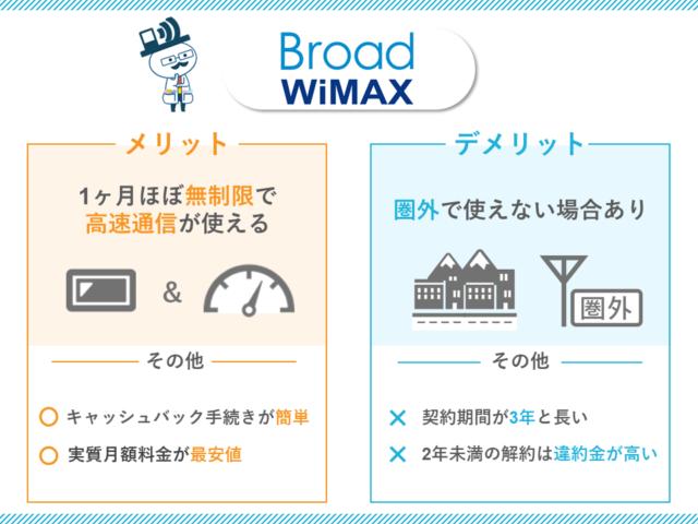 BroadWiMAXのメリットデメリット