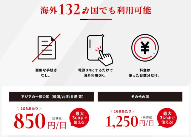 THE WiFi 海外料金