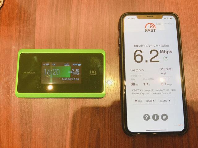 WX06の通信速度
