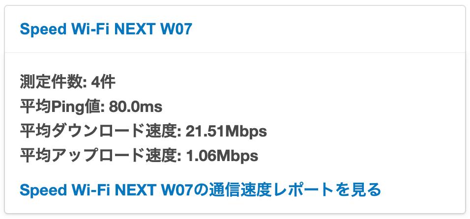auWiFi平均速度