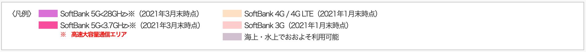 SoftBank5Gエリアの詳細情報